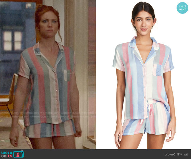 Splendid Shortie Pajama Set worn by Julia Bechley (Brittany Snow) on Almost Family