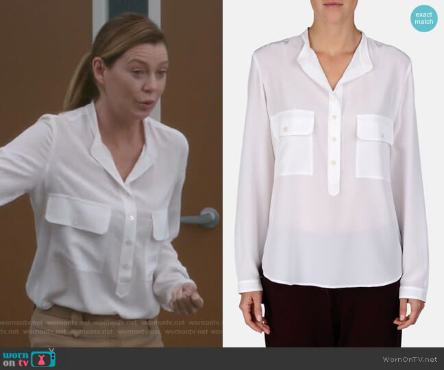 Estelle Shirt by Stella McCartney worn by Meredith Grey (Ellen Pompeo) on Greys Anatomy