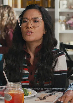 Doris's striped sweater with buttons on American Housewife
