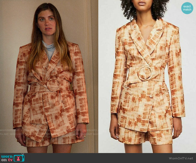 Style Mafia Barb Suit Set worn by McAfee (Laura Dreyfuss) on The Politician