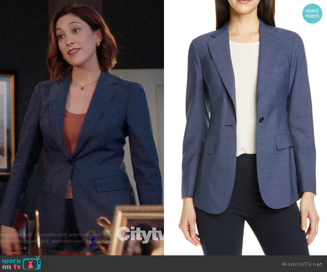 Suistudio Cameron Wool Suit Jacket worn by Sydney Strait (Caitlin McGee) on Bluff City Law