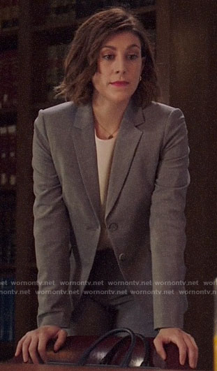 Sydney's white blouse on Bluff City Law