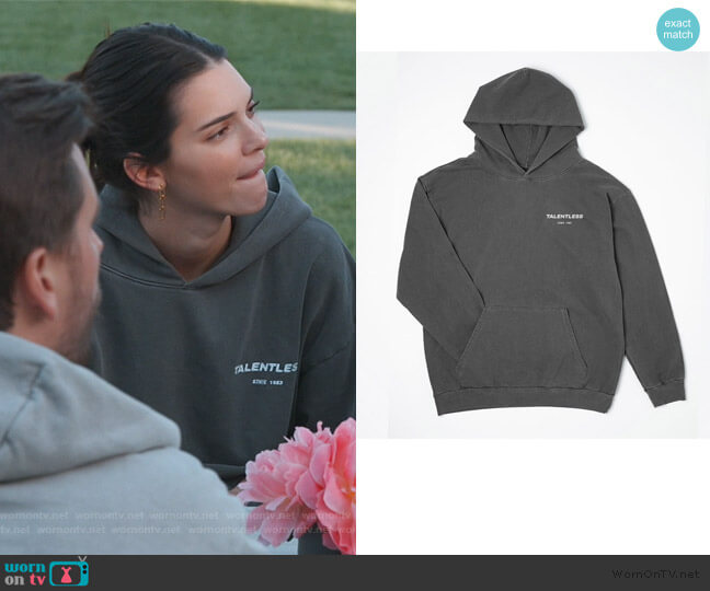Talentless Hoodie by Talentless worn by Kendall Jenner  on Keeping Up with the Kardashians