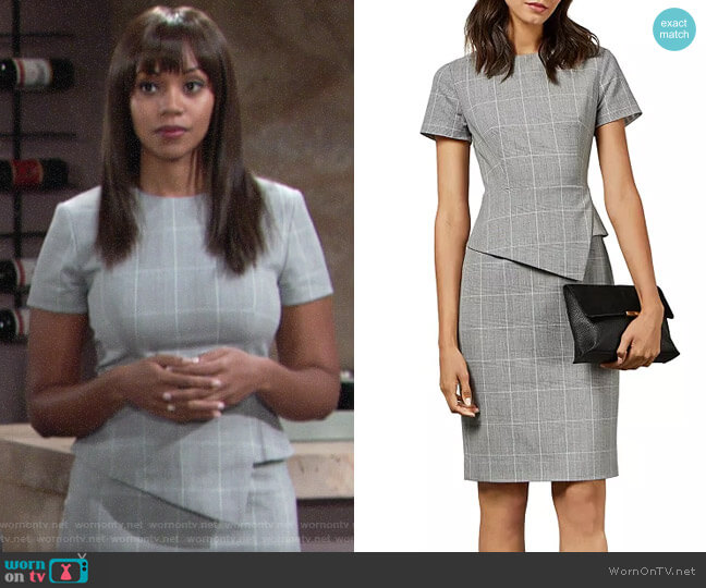 Ted Baker Arriia Dress worn by Amanda Sinclair (Mishael Morgan) on The Young & the Restless