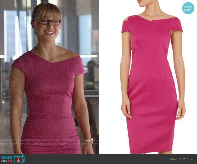 Ted Baker Aspyn Dress worn by Kara Danvers (Melissa Benoist) on Supergirl
