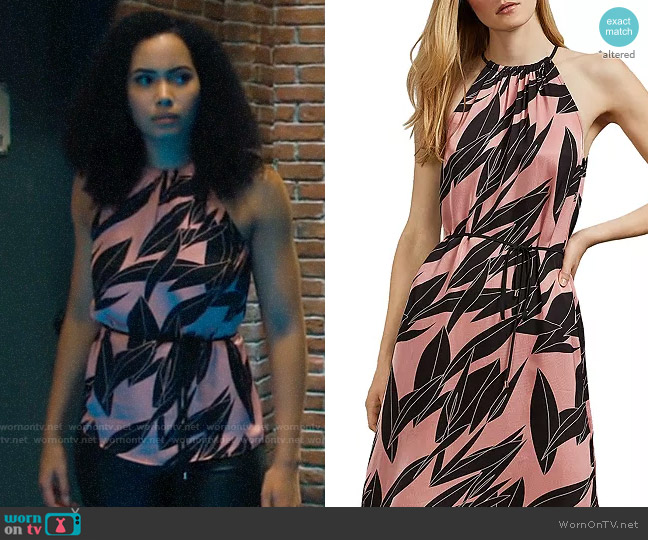 Ted Baker Leahla Sour Cherry Dress worn by Macy Vaughn (Madeleine Mantock) on Charmed