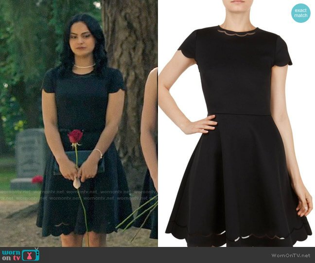 Ted Baker Marlena Dress worn by Veronica Lodge (Camila Mendes) on Riverdale