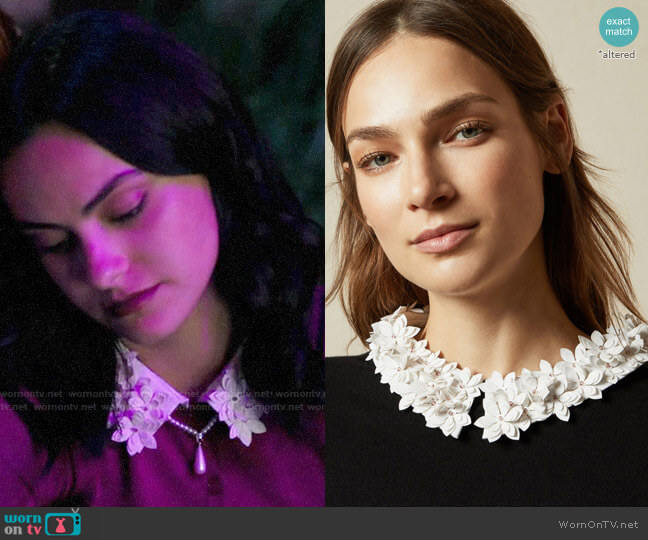 Ted Baker Nansea Sweater worn by Veronica Lodge (Camila Mendes) on Riverdale
