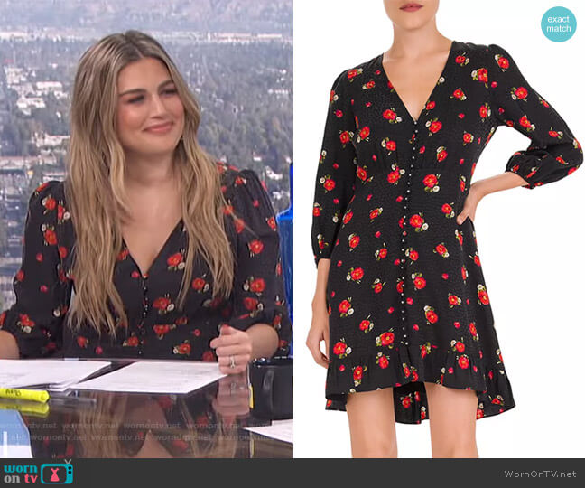 English Flower Jacquard Mini Dress by The Kooples worn by Carissa Loethen Culiner  on E! News