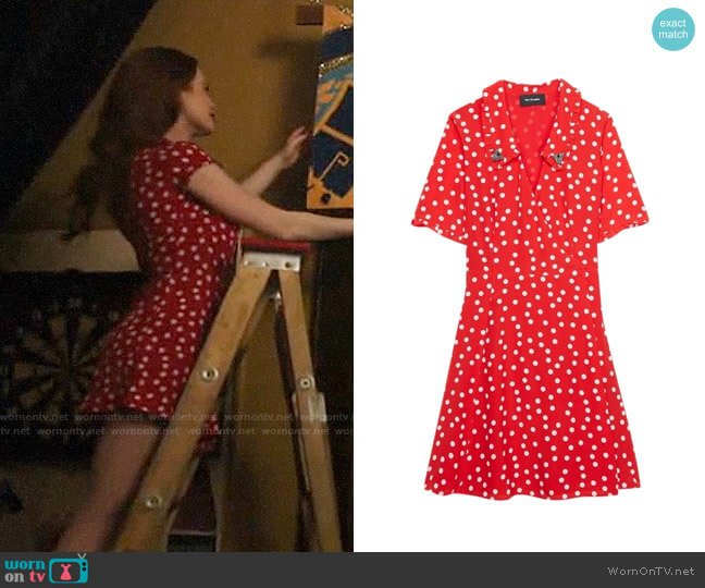 The Kooples Magic Mushroom Polka Dot Wrap Dress worn by Cheryl Blossom (Madelaine Petsch) on Riverdale