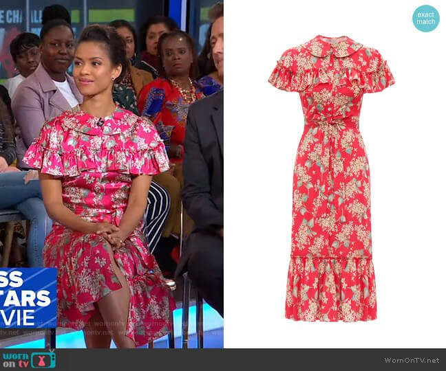 The L.A. Dress by The Vampire's Wife worn by Gugu Mbatha-Raw on GMA
