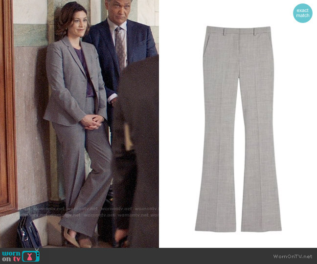 Theory Demitria Trousers worn by Sydney Strait (Caitlin McGee) on Bluff City Law