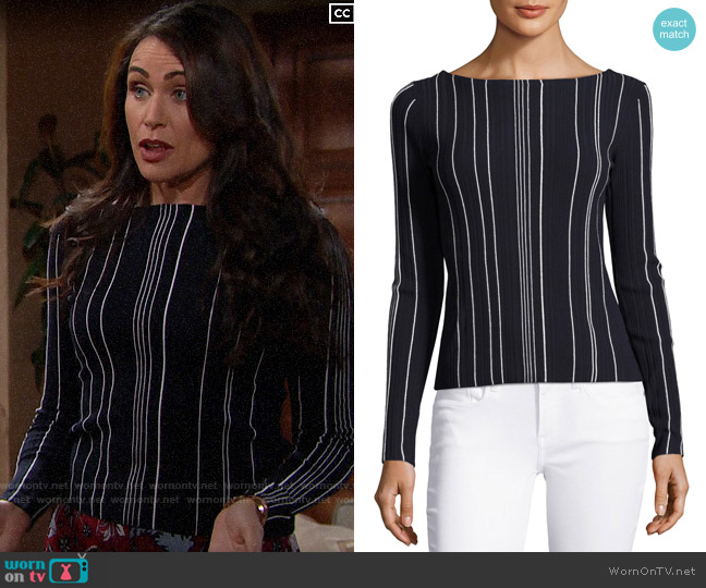 Theory Hankson Sweater worn by Quinn Fuller (Rena Sofer) on The Bold & the Beautiful