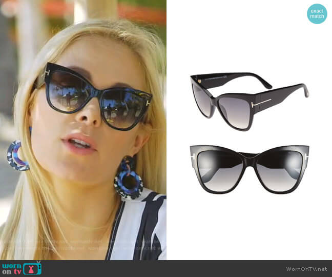 Anoushka Cat Eye Sunglasses by Tom Ford worn by Kameron Westcott  on The Real Housewives of Dallas