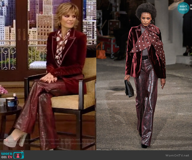 Fall 2019 collection by Tommy Hilfiger x Zendaya worn by Lisa Rinna on Live with Kelly and Ryan