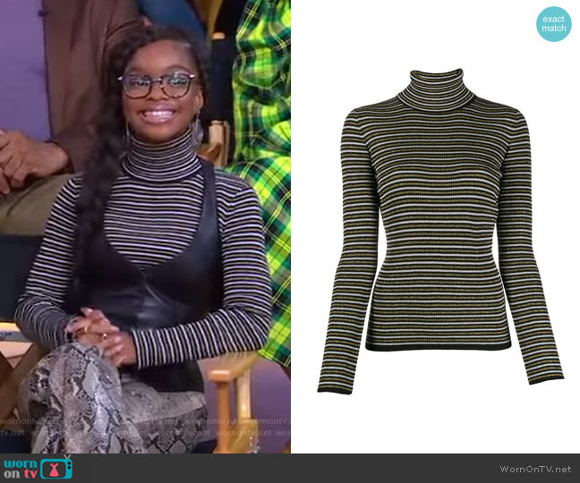 Striped Jumper by Tommy Hilfiger x Zendaya worn by Marsai Martin on GMA
