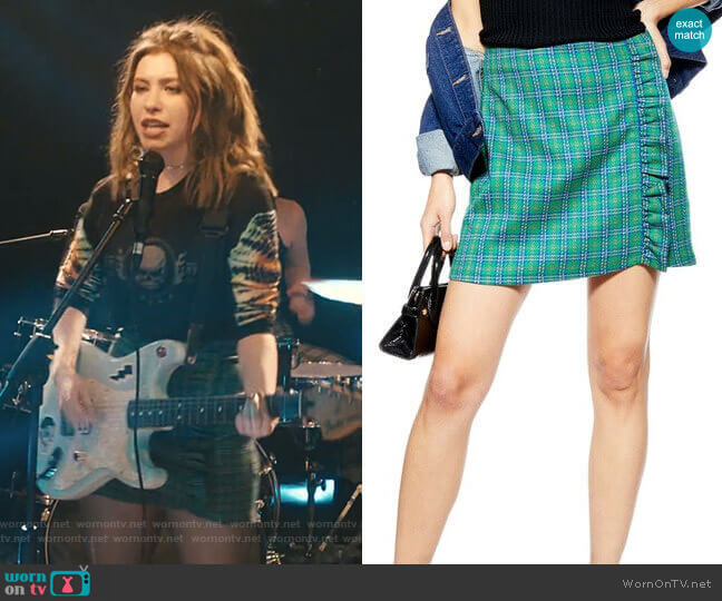 Check Frill Miniskirt by Topshop worn by Sammi Karras (Katelyn Nacon) on Light as a Feather