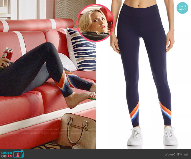 Tory Sport Tempo Chevron Leggings worn by Roxy Doyle (Emily Osment) on Almost Family