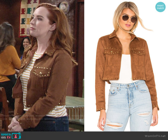 Tularosa Abbot Jacket worn by Mariah Copeland (Camryn Grimes) on The Young & the Restless