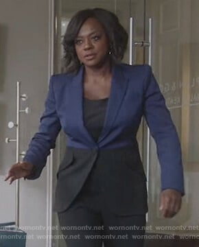 Annalise's two-tone blazer on How to Get Away with Murder