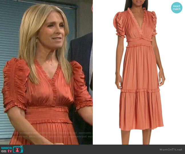 Ulla Johnson Maya Dress worn by Jennifer Horton (Melissa Reeves) on Days of our Lives