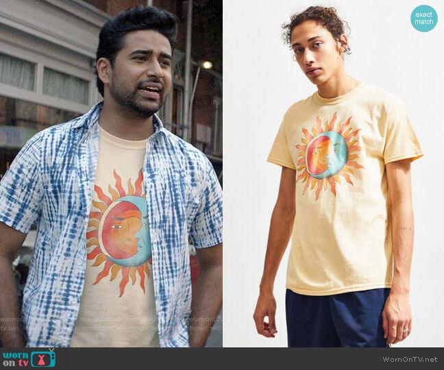 Urban Outfitters Sun + Moon Radiant Tee worn by Rakesh (Suraj Sharma) on God Friended Me