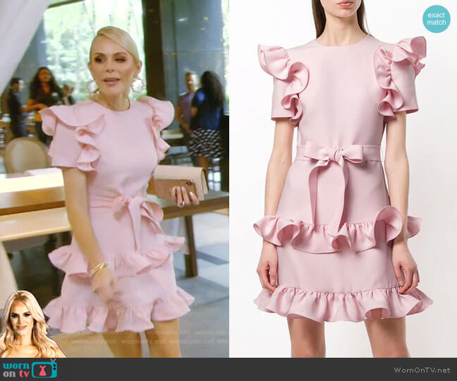 Tiered Ruffle Dress by Valentino worn by Kameron Westcott  on The Real Housewives of Dallas