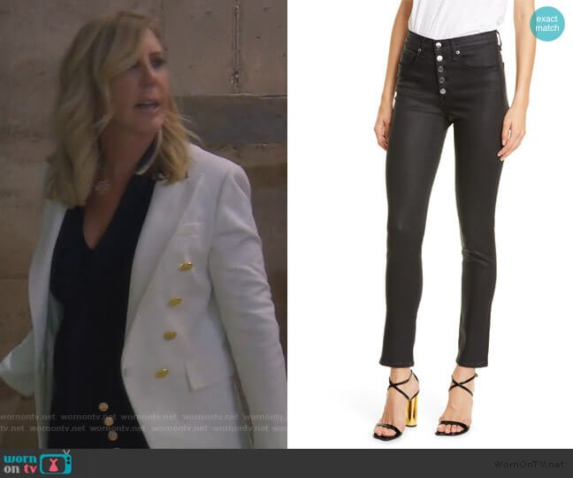 Debbie High Waist Skinny Jeans by Veronica Beard worn by Vicki Gunvalson  on The Real Housewives of Orange County