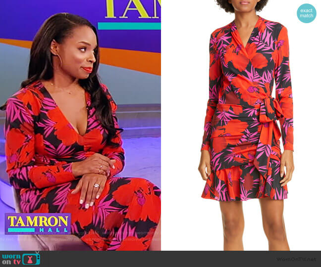 Lorina Floral Minidress by Veronica Beard worn by Devyn Simone on the Tamron Hall Show