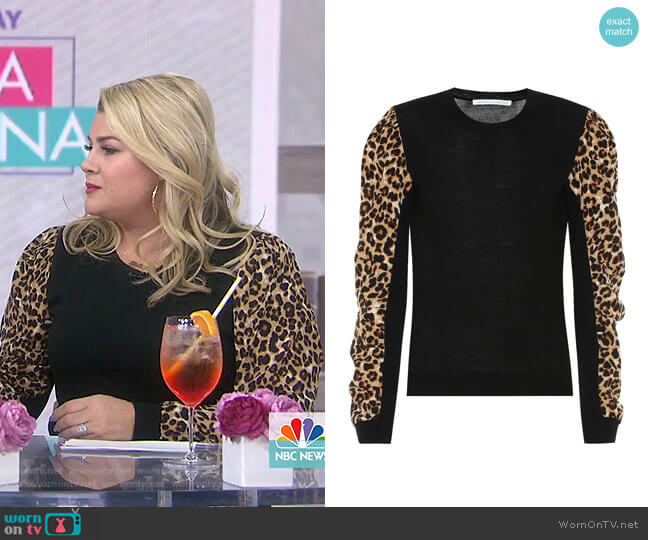 Adler Sweater by Veronica Beard worn by Heather McMahan on Today Show