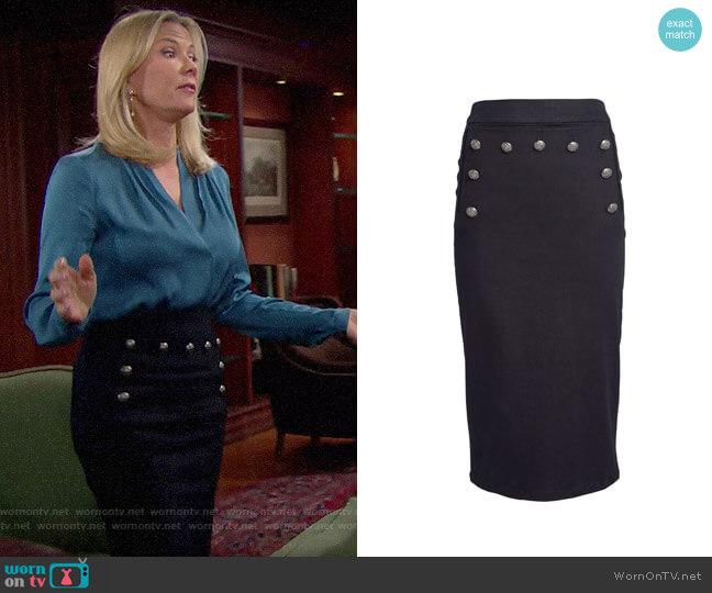 Veronica Beard Rowan Skirt worn by Brooke Logan (Katherine Kelly Lang) on The Bold & the Beautiful