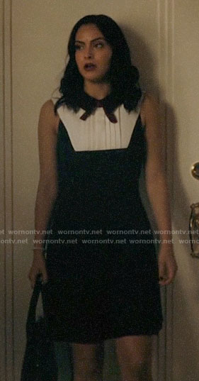 Veronica's collared bow neck dress on Riverdale