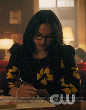 Veronica's flower print dress on Riverdale