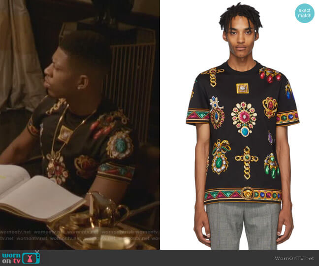 Jewel T-Shirt by Versace worn by Hakeem Lyon (Bryshere Y. Gray) on Empire