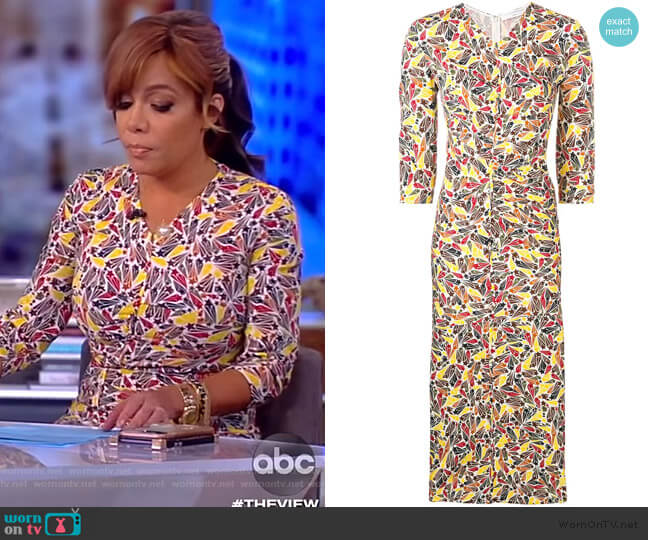 Gathered Star-print Dress by Victoria Beckham worn by Sunny Hostin  on The View