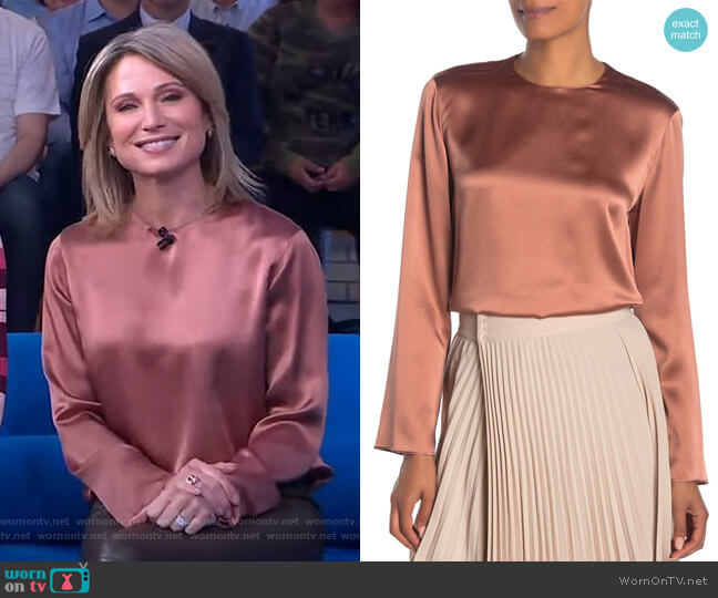 Long Sleeve Blouse by Vince worn by Amy Robach  on Good Morning America