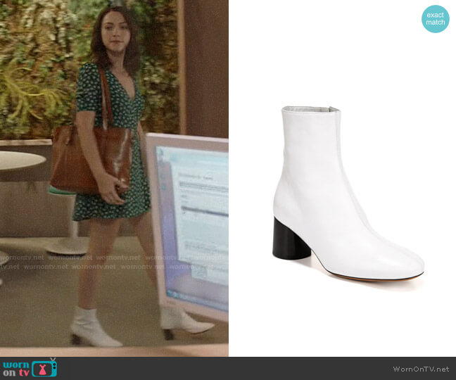 Vince Tasha 2 Booties worn by Cara Bloom (Violett Beane) on God Friended Me