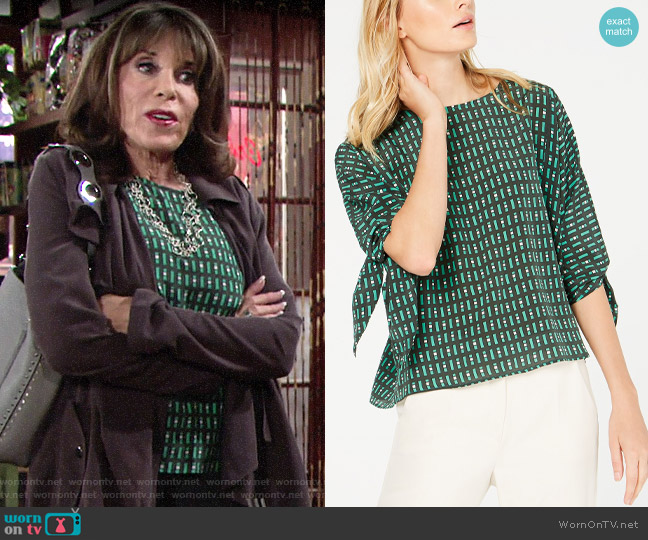 Weekend Max Mara Adone Top worn by Esther Valentine (Kate Linder) on The Young & the Restless