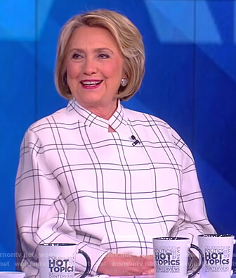 Hillary Clinton's white check jacket on The View