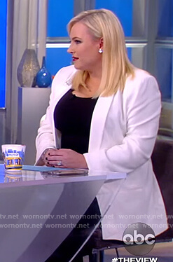 Meghan's white embellished collar blazer on The View