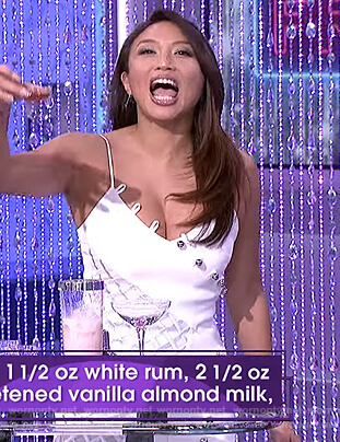 Jeannie's white loops & metal balls dress on The Real