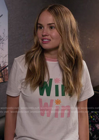 Patty's win win print tee on Insatiable