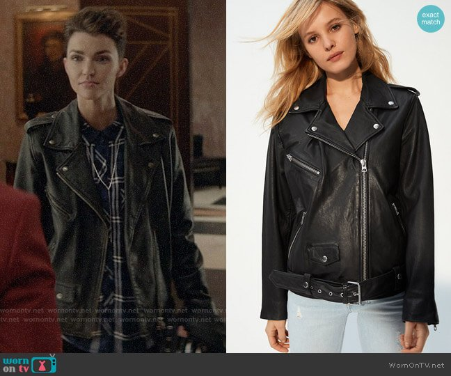 Wilfred Free Lennon Biker Jacket Relaxed worn by Kate Kane (Ruby Rose) on Batwoman