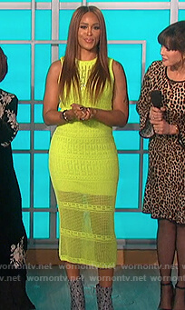 Eve's yellow crochet dress on The Talk