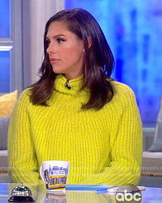 Abby's yellow turtleneck sweater on The View