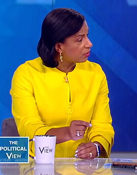Susan Rice's yellow tiered sleeve jacket on The View