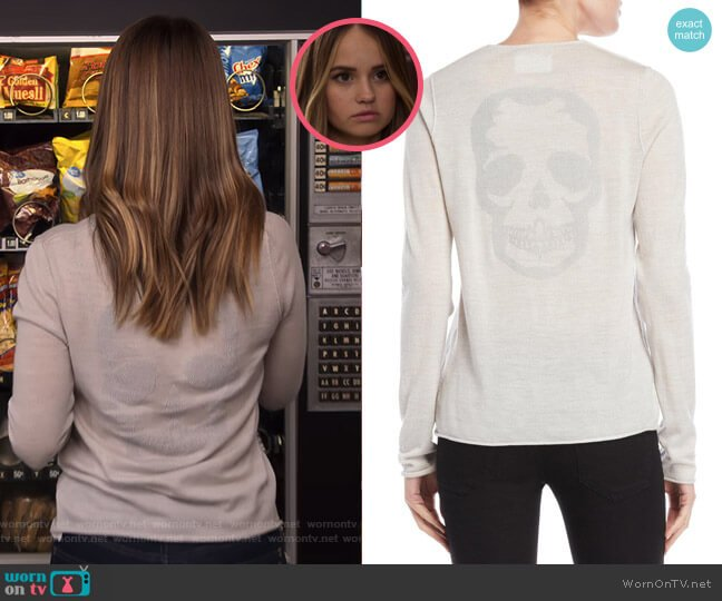 Strass Skull Sweater by Zadig & Voltaire worn by Patty Bladell (Debby Ryan) on Insatiable