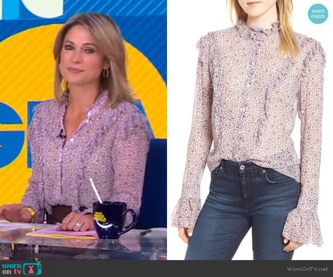 Tweet Ruffle Blouse by Zadig & Voltaire worn by Amy Robach  on Good Morning America