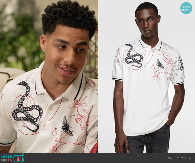 Zara Insect Print Polo worn by Andre Johnson Jr (Marcus Scribner) on Blackish