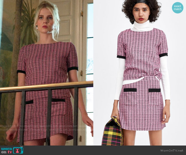 Zara Tweed Jacquard Co-ord Set worn by Astrid (Lucy Boynton) on The Politician